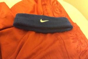 Nike swoosh headband navy