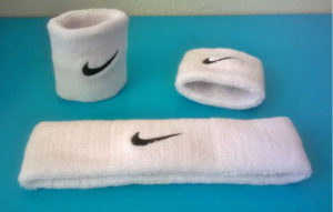 Nike swoosh wristband set