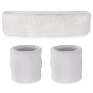 suddora sweatband set (white)