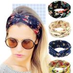 HIPPIH 4 Pack Women's Headbands Elastic Turban Head Wrap