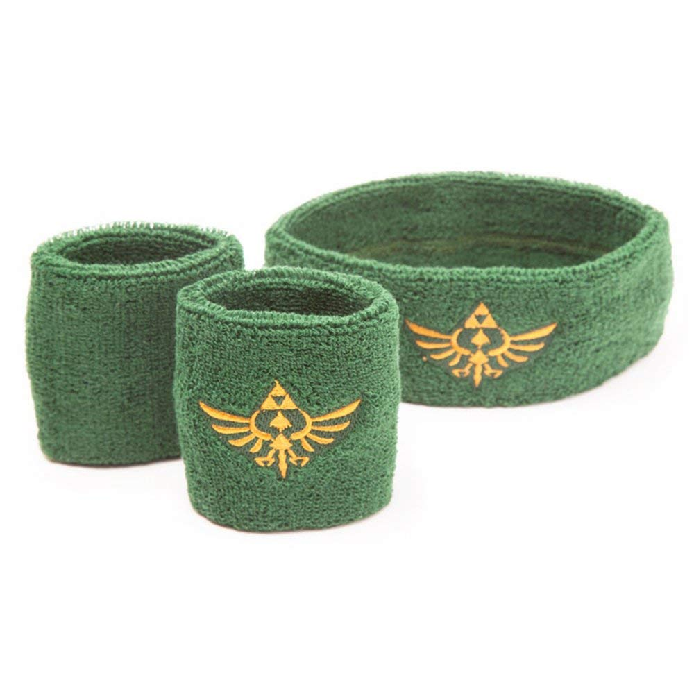 Legend of Zelda Sweatband 3-Set Logo Bioworld Nintendo Armbands Review